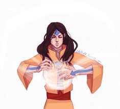 Older Jinora being pro and showing off her rad airbending I was too lazy and incompetent to add a background, forgive me. Feel free to hit me up with requests!