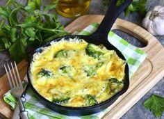 omelete com brócolis