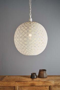 Callisto - Perforated Round Pendant Light - White Style No. 11094