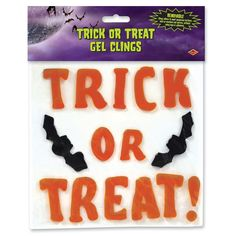 Trick Or Treat Gel Clings (12 Packs)