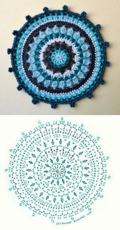 Transcendent Crochet a Solid Granny Square Ideas. Inconceivable Crochet a Solid Granny Square Ideas. Motif Mandala Crochet, Crochet Circles, Crochet Motifs, Crochet Diagram, Crochet Chart, Crochet Squares, Mandala Rug, Crochet Diy, Crochet Round