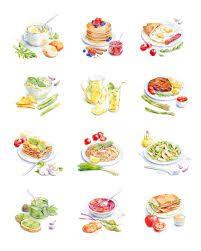 watercolor food - Поиск в Google