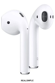 30 Great Gifts for Your Sister (That She Would Never Dream of Returning) | Induct her into the wireless club with a new set of earbuds that really, truly won't fall out. She can take her podcasts or audiobooks with her wherever she goes, and once she gets used to the freedom of Bluetooth, she'll never go back. #realsimple #bestgiftideas #giftsforher #giftsforhim #gifts Apple Airpods 2, Phone Background Patterns, Gifts For Your Sister, Intelligent Design, Air Pods, Led, Phone Holder, Headphones, College