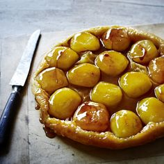 This classic 'upside down' French tart, usually served warm as a pudding