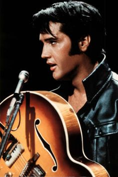 Elvis Presley (King of Rock and Roll) Music Poster Print
