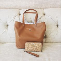 Around Town Tote and All About the Benjamins Wallet- simple, cassic, and chic! Photo: mypurselife
