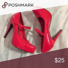 Red BCBG Pumps In great condition, worn like twice. No rips, stains, scuffs, or anything. Comes with original box. I need everything gone, so please buy or make an offer. Fast shipper. Thank you(: BCBGeneration Shoes Heels