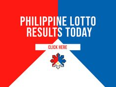 Philippine Lotto Results Today - May 2019 - Philippine Lotto Results Today Lotto Results, Lotto Games, Jackpot Winners, May