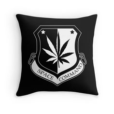 """Space Command"" Throw Pillows by Samuel Sheats 