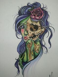 Definitely an awesome Zombie tattoo idea