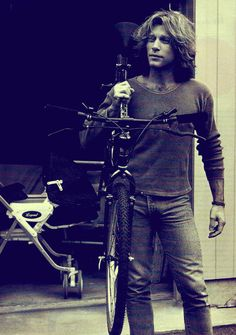 Jon Bon Jovi carries a bike...my mom loves him! I dont see the appeal
