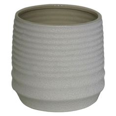 Threshold™ Ribbed Tabletop Planter - White