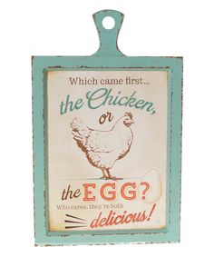 Look at this 'Eggs' Wooden Sign on #zulily today!