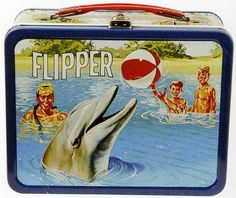 Vintage lunchbox - classics! Jeannine's favorite lunchbox, that was her mom's. Her second favorite lunchbox is her dad's old Star Trek box.