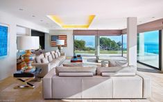 Inside, the interior design schemes are fresh and minimalist. A 150 square meter living room provides ample room for seating a large number ...