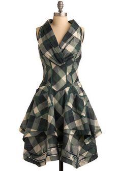 Oh a plaid dress hmmm ;)