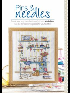 TP Pins & Needles by Maria Diaz  Cross Stitch Collection Issue 252 August 2015 Zinio