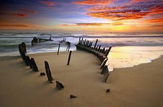 Visit the wreck of the SS Dicky on Dicky Beach. Coast Australia, Queensland Australia, Australia Travel, Amazing Photos, Cool Photos, Dicky Beach, Travel Around The World, Around The Worlds, Seaside Towns
