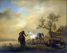 18 b Wouwerman_Philips Horses_at_a_Watering-Place.hermitage.jpg