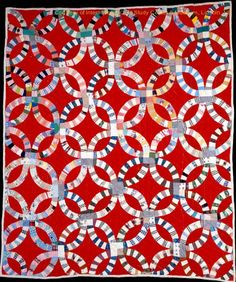 Double Wedding Ring, circa 1970, in. International Quilt Study Center & Museum, Robert and Helen Cargo Collection 2000.004.0001.  Posted at Why Quilts Matter