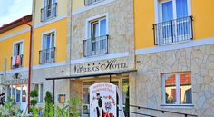 Nefelejcs Hotel Mezőkövesd Just 100 metres from the thermal baths and open-air pools of the Zsóry Thermal Bath and Spa, the 3-star superior Nefelejcs Hotel offers a wellness centre, on-site bicycle rental, a restaurant and free Wi-Fi.