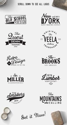 10 Retro Logos by Graphicfull on Creative Market