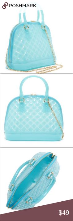 Baby Blue Jelly Crossbody Purse New With Tags! So cute!! Pink Haley Bags Crossbody Bags