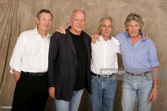 """Nick Mason, Dave Gilmour, Rick Wright and Roger Waters of Pink Floyd pose for a studio portrait backstage at """"Live 8 London"""" in Hyde Park on July 2005 in London, England. The free concert is one. Get premium, high resolution news photos at Getty Images David Gilmour, Hyde Park, Pink Floyd Poster, Pink Floyd Art, Richard Wright, Justin Hawkins, Backstage, Gary Kemp, Katie Melua"""