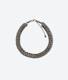Image 1 of CRYSTAL CHAIN NECKLACE from Zara