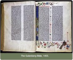 Gutenberg Bible (1455) - The Huntington Library -The Huntington Library, Art Collections, & Botanical Gardens (CA)
