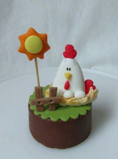 Barnyard Cake, Farm Cake, Farm Animal Cupcakes, Cool Gingerbread Houses, Fondant Animals, House Cake, Baby Boy Cakes, Fondant Toppers, Fondant Tutorial