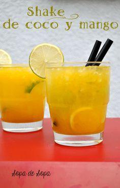 shake de coco y mango