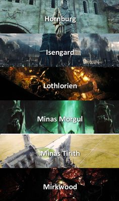Places in Middle Earth