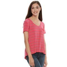 Juniors' SO® Relaxed Pocket Tee, Teens, Size: Medium, Pink