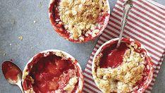 Strawberry-Rhubarb-Pecan Crisps - Recipe - FineCooking