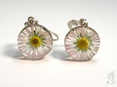 Daisy  tender blossomearrings with real by GeschmeideUnterTeck, €39.00