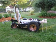 This is an old Walker Mower. I took the frame and converted it into a lawn sprayer. Best Lawn Tractor, Lawn Mower, Tractors, Outdoor Power Equipment, Antique Cars, Good Things, Landscape, Diy Ideas, Tools