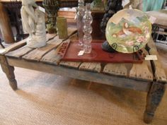 Antique Coffee Table French Crate by krw062 on Etsy