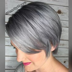 """This """"Sterling Silver"""" by Noora Ahmad is amazing! She used the #KenraColor Demi 7SM 9VM and Violet Booster. #MetallicObsession"""
