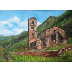 Sant Joan de Caselles (Andorra) Oli/oleo 55x38cm