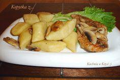 Kuchnia u Krysi : Kopytka - przepis niezawodny Polish Recipes, Cucumber, Pork, Food And Drink, Meat, Chicken, Cooking, Eat Lunch, Kale Stir Fry
