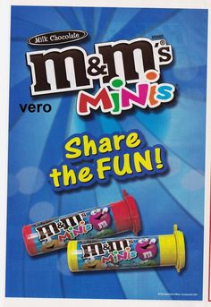 2007 magazine ad M&M MINIS mms PINK Share the Fun M&M's advertisement print