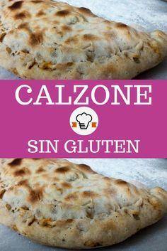 Receta de calzone sin gluten relleno con jamón y queso. #calzonesingluten #recetas #singluten #glutenfree #cocina