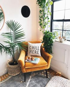 The Nordroom - The Plant-Filled Brooklyn Apartment of Viktoria Dahlberg furniture living room Living Room Decor, Bedroom Decor, Bedroom Ideas, Plants In Living Room, Chairs For Living Room, Spa Room Decor, Cozy Living Rooms, House Plants, Living Room Designs