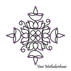 My Kolam: 11/1/11 - 12/1/11 Indian Rangoli Designs, Rangoli Designs Flower, Rangoli Designs With Dots, Rangoli Designs Images, Flower Rangoli, Rangoli With Dots, Beautiful Rangoli Designs, Simple Rangoli, Mehandi Designs