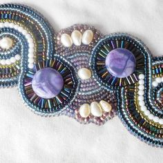 Bead  embroidered Jewelry by INGEBORG797 on Etsy