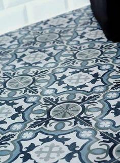 Patterned Spanish bathroom floor tiles. New range of Spanish porcelain floor tiles that make a great statement.. #sydney #bathroom #home #renovation #bathroomdesign #floortiles