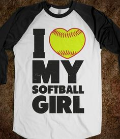 I recently posted the I love my baseball boy shirt so the boy can get this shirt! Baseball softball couples are the best!