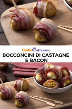 Bocconcini di castagne e bacon - My most creative finger food list Fall Appetizers, Vegetarian Appetizers, Finger Food Appetizers, Appetizer Recipes, Buffet, Fingers Food, Cata, Antipasto, Food Lists