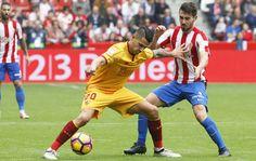 Vitolo en el Sporting de Gijon 1 - Sevilla 1